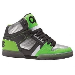 2012 OSIRIS NYC 83 HIGH TOP SHOES  BLACK/LIME