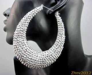 Fatima Metal Gold Hoop Dangle Earrings Nicki Minaj Basketball Wives
