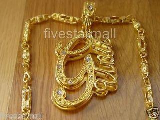 UNIT GOLD TONE PENDANT CHARM 30 CHAIN W/BOX HIPHOP