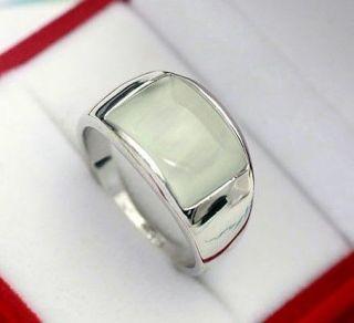 18K White gold GP Swarovski Cat eye Unique Ring Size 6,7,8,9 Available