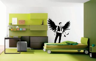 man angel wings nice Wall Decor Vinyl Decal Sticker MURAL Interior