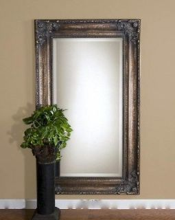 Oversize Extra Large Wall Floor Mirror Ornate Bronze XL Antique FULL