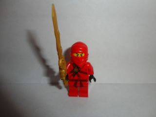 LEGO NINJAGO Red Ninja KAI Minifigure with a golden dragon sword new