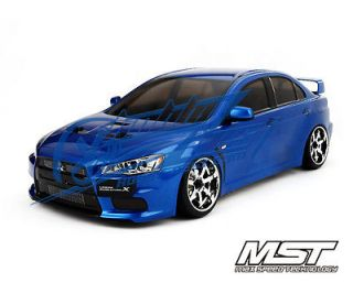 RTR 1/10 Scale 4WD Electric RC Drift Car (2.4G)w/carbody  EVO X(Blue