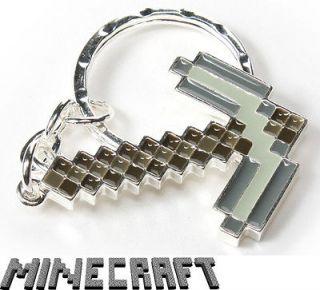 Minecraft Pickaxe Keychain Gamer Collectable Merchandise Geek Key Ring
