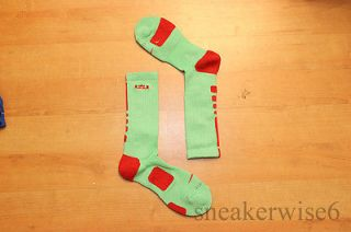 Nike Elite Lebron James Jade Dri Fit Basketball Socks med large or xl
