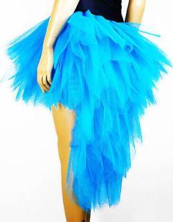 Womans Flo Blue Burlesque Moulin Rouge Carnival Dress Up Costume Show