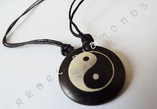 SURFER STYLE TRIBAL YING YANG URBAN PENDANT NECKLACE