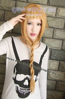Soul Eater Medusa ash blonde pre  styled cosplay wig /70cm