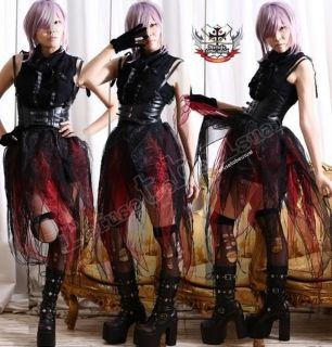 RTBU Goth Vampire Punk LARP Visual Kei SHEER WING Skirt