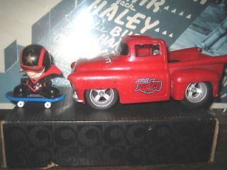 RARE HTF COLLECTABLE TECH DECK DUDE RIDES RED TRUCK ,  SOLD AS IS