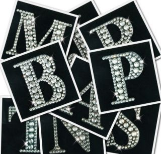 Crystal Rhinestone Alphabet Letter Stickers Card Making Scrap Booking