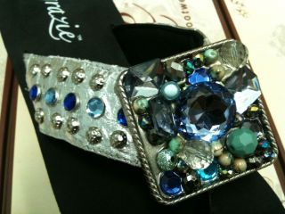 NEW STYLE Grazie FESTIVAL 2 SILVER Blue Giant Stones Concho Wedge Flip