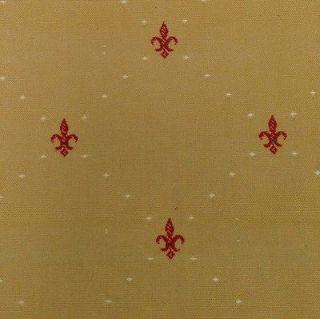 Upholstery Fabric Petite Fleur De Lis Mustard 2.75yds L4B