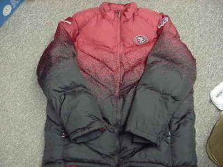 NFL On Field San Francisco 49ers Sideline Warm Goose Down Jacket Size