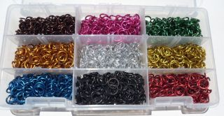 Jeweler Starter Kit JUMP RINGS Anodized Aluminum 1/4 16g SAW CUT