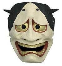 Japanese Omen Mask Teng Hariko Paper Hannya New