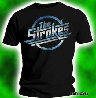 Official T Shirt THE STROKES Blue Silver MAGNA Logo M