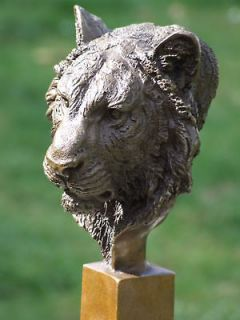 Newly listed LION TIGER PANTHER BIG CAT SIGNED PURE BRONZE STATUE