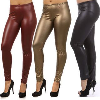 Plus Size Liquid Leggings Shiny Matt Metallic Fashion Trend Pants 1X