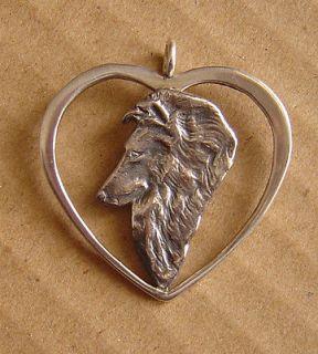 Shetland Sheepdog Sheltie Pendant Pin Brooch Jewelry HEAD STUDY IN