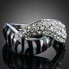 Arinna leopard fashion finger Ring white gold GP 18K Swarovski Crystal
