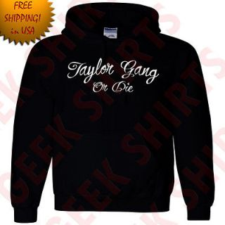 Taylor Gang rap Hoodie Wiz Khalifa Hooded sweat shirt lil wayne drake
