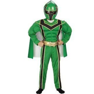 Power Rangers Mystic Force Green Ranger Muscle Costume Size 10 12 New