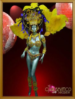 CharismaticoGemstone and Gold Bead Accented Yellow Full Rio Carnival