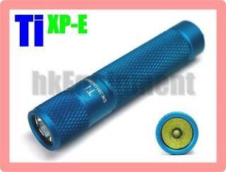 Newly listed GOLD ThruNite Ti XP E LED AAA Flashlight 3/60 Lumen