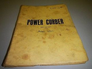 Power Curber 6500 curb & gutter machine parts catalog manual