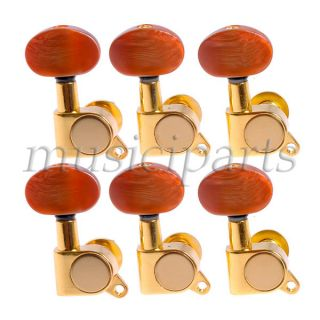 6R LAP STEEL GUITAR STEEL ACOUSTIC GUITAR GOLDEN STRING TUNING PEGS