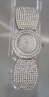New Sparkling Authentic 35 Carats Swarovski Stainless Steel Designer