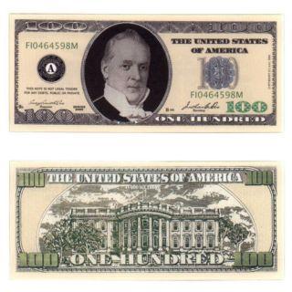 One Hundred Casino Dollar Bill Notes 2 for $1.00