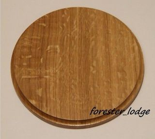 Circular Oak Trophy Mounting Plaque, shield for Wild Boar tusks