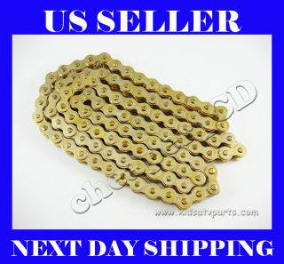 428 102L GOLD CHAIN PIT DIRT BIKE ATV HONDA XR50 CRF50 70cc 110cc
