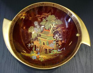 Beautiful ART DECO CARLTON WARE ROUGE ROYALE MIKADO bowl in perfect