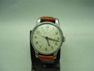 Vintage Longines mens 1940s military 17 jewels watch RARE VERSION