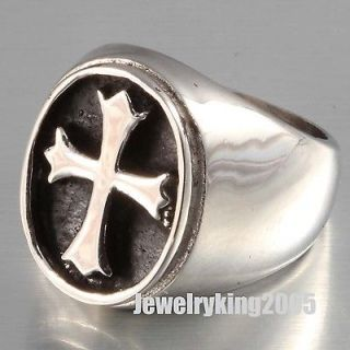 New 20MM 316L Stainless Steel Heavy Huge Mens Classic Knight Templar