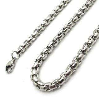 7MM Mens Womans Silver Rope Chain Stainless Steel Twist Links