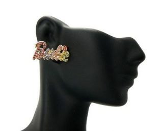 NEW NICKI MINAJ STYLE BARBIE RHINESTONE POST EARRING 7 COLOR ME981