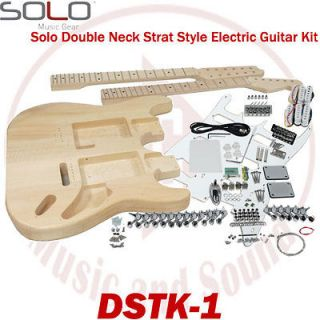 Solo DSTK 1 ST Style DIY Guitar Kit, Double Neck Guitar Kit