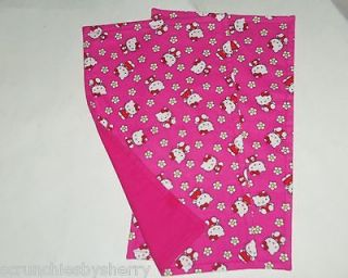Hello Kitty Burp Cloth Baby Girl Hot Pink Feeding Shower Gift Choose