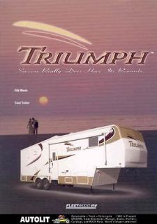 2002 Fleetwood Triumph Travel Trailer Brochure r2166 F38VX7