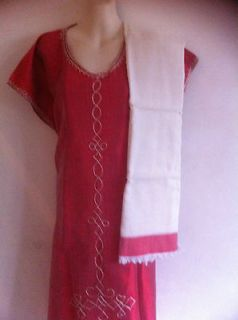 ETHIOPIAN TRADITIONAL HANDMADE COFFEE DRESS WITH MATCHING SCARF