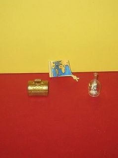 Playmobil Pirate Ship Gold Treasure Chest   Treasure Map & Bottle