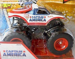 Hot Wheels Monster Jam Truck* CAPTAIN AMERICA  1st Edition in 2013