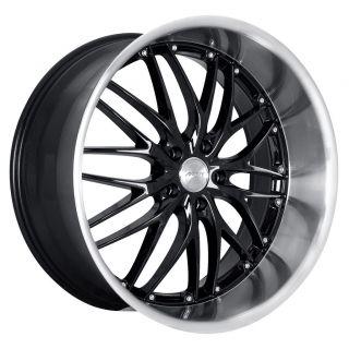 19 MRR GT1 Black Rims Wheels Accord Mazda 3 Speed 3 Mazda6 Sti Rx8