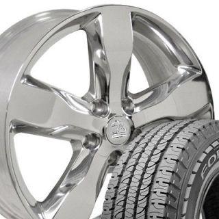 20 Polished Grand Cherokee Wheels Rims 265 50 20 Goodyear Tires OEM