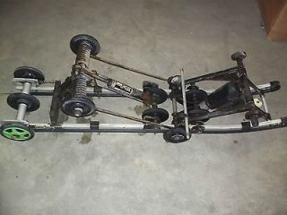 97 ARCTIC CAT COUGAR 136 REAR SUSPENSION GREEN SHOCKS SKID RAILS ARMS